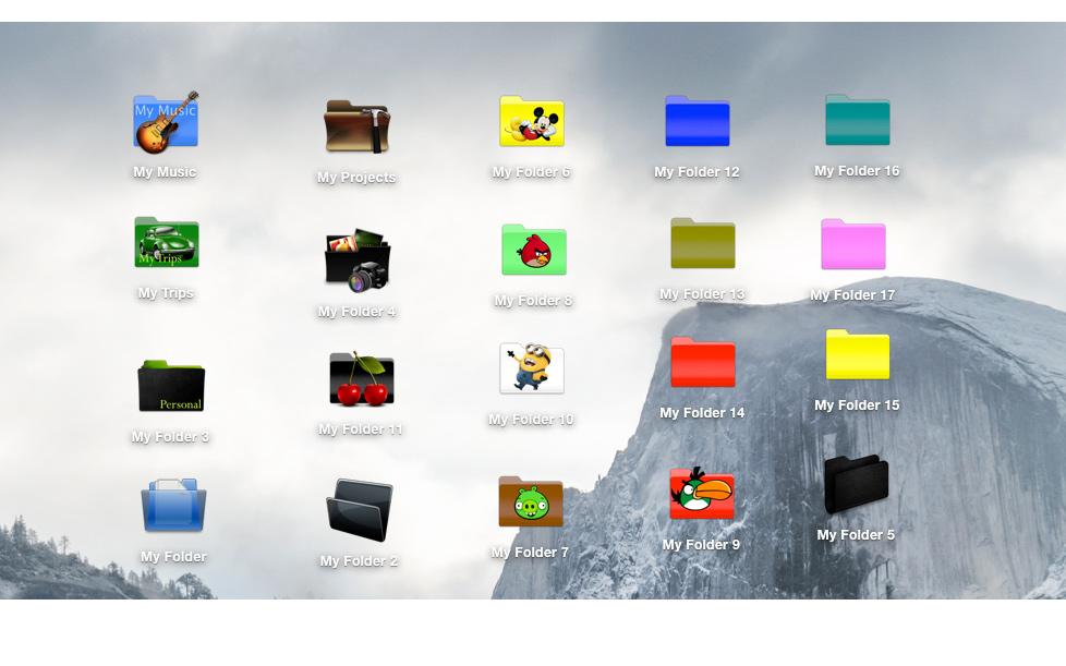 Folder Factory Mac 破解版 文件夹图标修改工具-麦氪搜(iMacso.com)